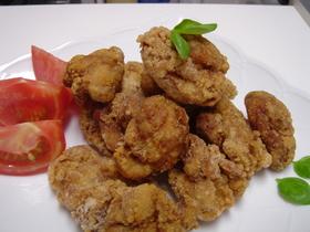 大葉にんにく醤油で鶏の唐揚