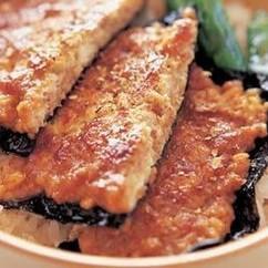 豆腐のかば焼き丼