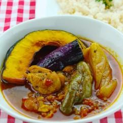チキンと野菜のスープカレー&ジャスミンライス
