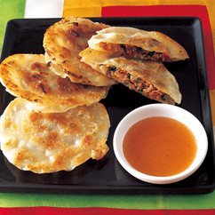 チヂミ風焼き餃子