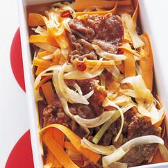 豚と野菜のピリ辛南蛮漬け