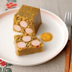 ソーセージのレンズ豆カレーテリーヌ