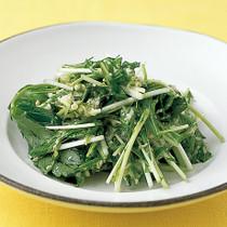 水菜と三つ葉のねばねばサラダ