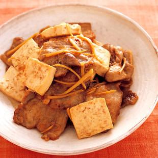 豆腐と豚のしょうが焼き