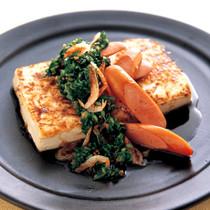 にらだれのウインナ豆腐ステーキ