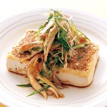 とり薬味野菜だれの豆腐ステーキ