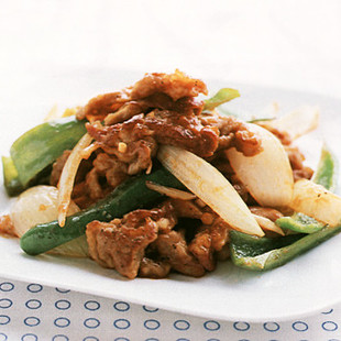 豚肉のケチャップソテー