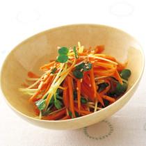 にんじんと貝割れ菜の和風サラダ