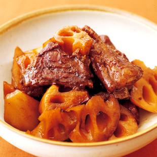 豚スペアリブとれんこんの黒酢煮