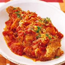 豚かたまり肉のトマト煮