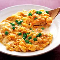 豆腐と揚げ玉の卵とじ