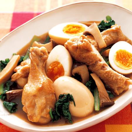 手羽元とゆで卵の甘辛煮