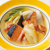 鮭とキャベツのスープ煮