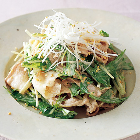 豚しゃぶと水菜のサラダ