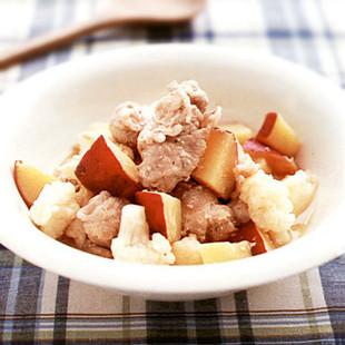 豚肉とカリフラワーのみそ煮