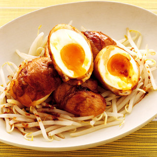 肉巻き卵の甘辛煮