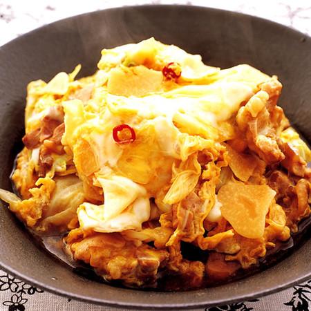 とり肉の韓国風卵とじ
