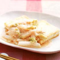 豆腐ステーキ白菜たらこあんかけ
