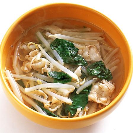 豚バラもやしスープ