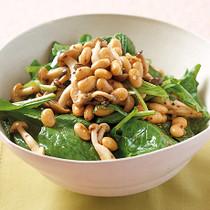 きのこと豆の粒マスタードサラダ