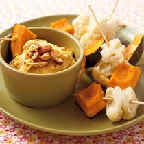 カリフラワーとかぼちゃのディップサラダ