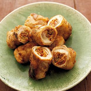 豚肉のキムチーズ巻き焼き