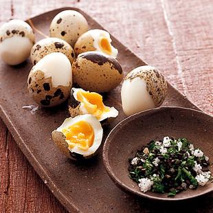 うずらの半熟ゆで卵