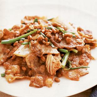 豚キムチ納豆