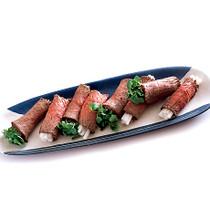 ローストビーフの野菜巻き