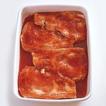 豚肉のサルサソース漬け
