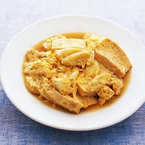 豆腐とねぎの卵とじ