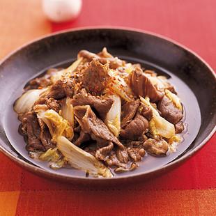 牛肉と白菜のすき煮