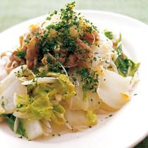 白菜と豚肉のねぎ塩炒め
