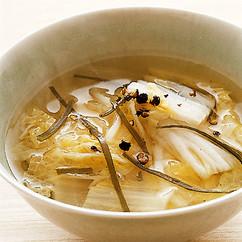 白菜漬けのスープ