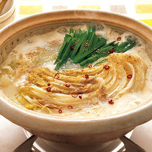 白菜と豚肉の豆乳鍋