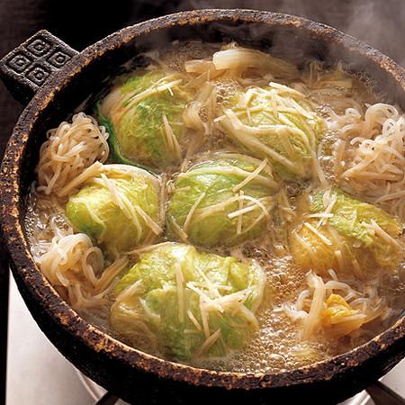 白菜団子の中華鍋