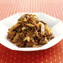 牛肉とごぼうのカレー炒め