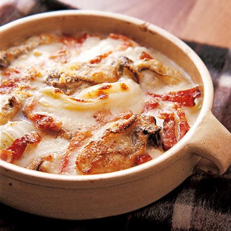 かきと白菜のクリームグラタン