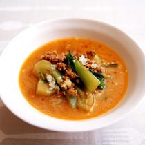 チンゲンサイの担担スープ