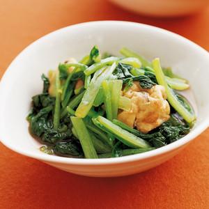 小松菜とがんもの煮びたし