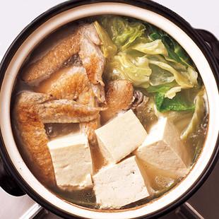 こんがりとり手羽湯豆腐