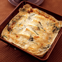 豆腐と卵のごまグラタン