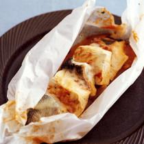 たらと豆腐のイタリアン包み焼き