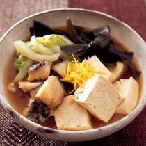 たらと豆腐の昆布煮
