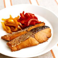 鮭とパプリカの照り煮