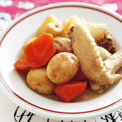 手羽先と根菜の蒸し煮