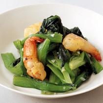 小松菜のオイル蒸し