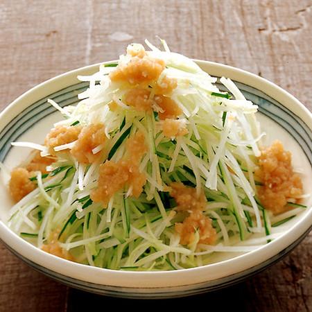 ねぎ明太のっけサラダ