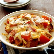 トマトツナのとろろんチーズ焼き