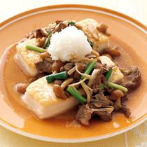 豆腐ステーキの和風きのこソース